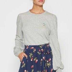 Joie Bernette Cherry-Embroidered Sweatshirt XS NWT